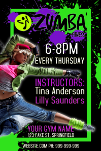 Zumba Poster template