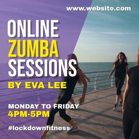 Zumba virtual class Instagram Post template