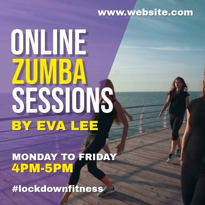 Zumba virtual class Instagram-opslag template