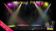 Zumba zoom backgrounds/gym/dance workout Präsentation (16:9) template