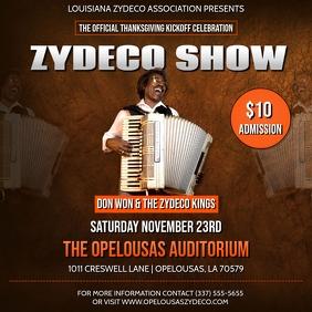 ZYDECO SHOW CLUB FLYER
